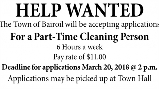 Part-Time Cleaning Person