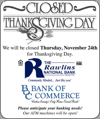 Closed Thanksgiving Day
