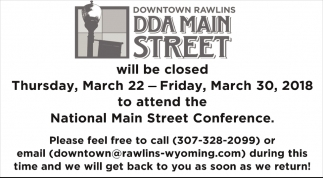 Closed Thursday, March 22 - Friday, March 30, 2018