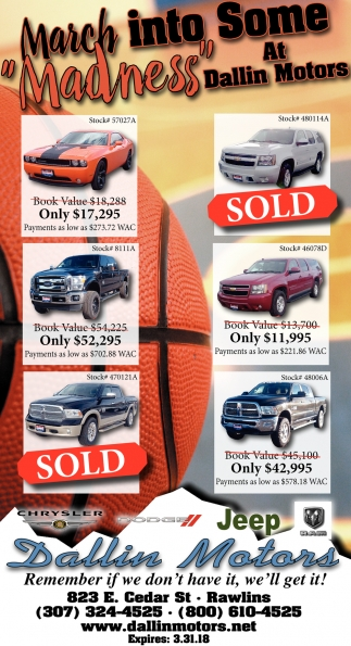 March into Some Madness at Dalling Motors