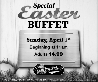 Special Easter Buffet