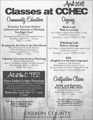 Classes at CCGEC