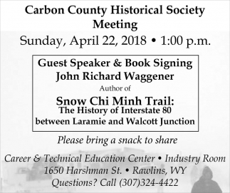 /Carbon County Historical Society Meeting
