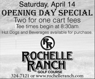 Opening Day Special