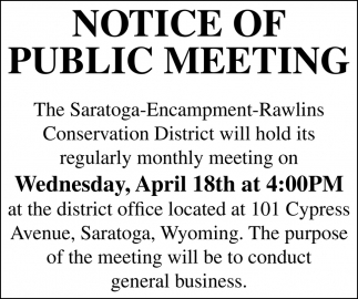 Notice of Public Meeting
