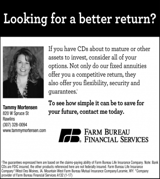 Looking for a Better Return?