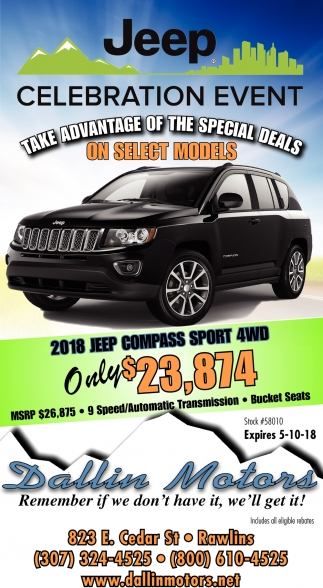 Take Advantage of the Special Deals on Select Models