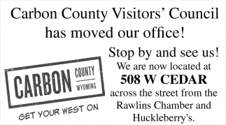 Carbon County Visitors Council has Moved Our Office!