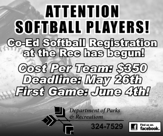 Attention Softball Players!