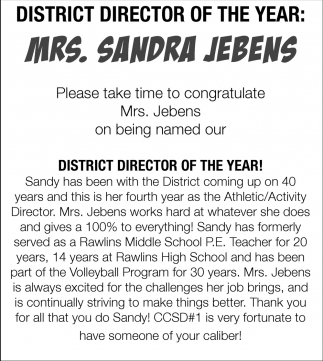District Director of the Year