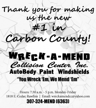 Thank You for Making Us the New #1 in Carbon County