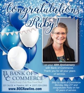 Congratulations Ruby