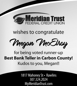 Wishes to Congratulate Megan McElroy
