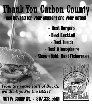 Thank You Carbon County and Beyond for Your Support and Your Votes!
