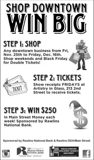 Shop downtown win big
