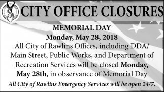 City Office Closures
