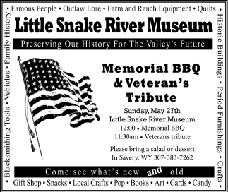 Memorial BBQ & Veteran's Tribute