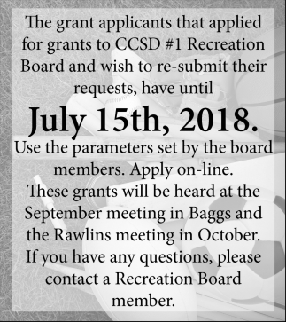 Grant that Applied for Grant to CCSD#1