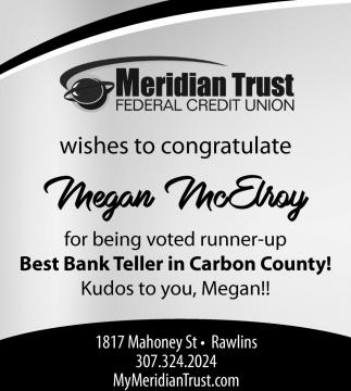 Congratulate Megan McElroy