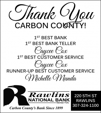 Thank You Carbon County!