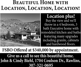 Beautiful Home With Location
