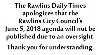 The Rawlins Daily Times Apologizes