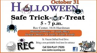 Halloween Safe Trick or Treat