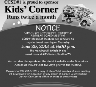Kid's Corner Runs Twice a Month