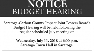 Notice Budget Hearing