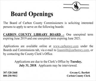Board Openings