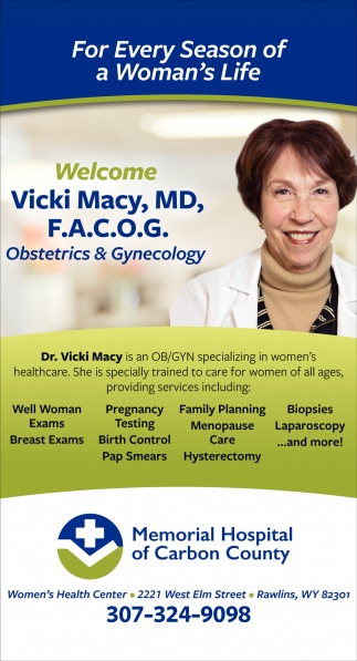 Welcome Vicki Macy, MD