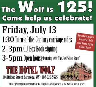 The Wolf is 125!