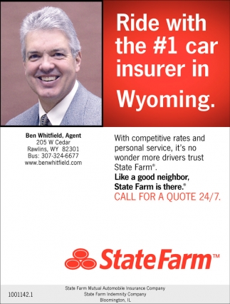 Ride with the #1 car insurer in Wyoming