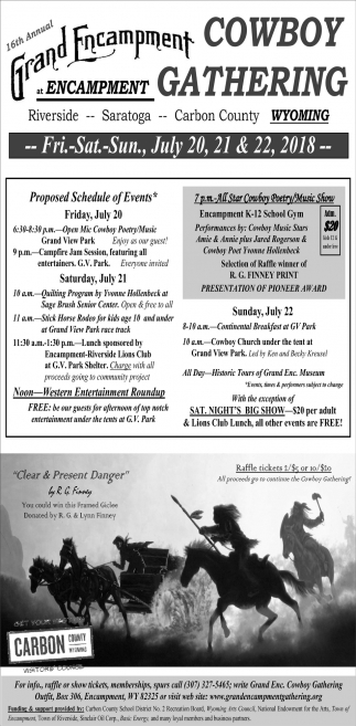 16th Annual Grand Encampment Cowboy Gathering