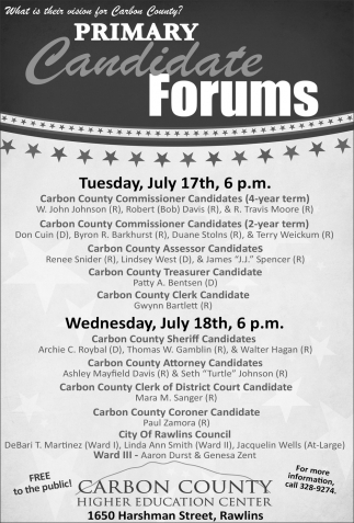 Primary Candidate Forums