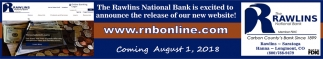 The Rawlins National Bank is Excoted to Announce the Release of Our New Website!