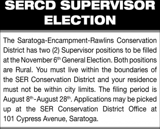 Sercd Supervisor Election