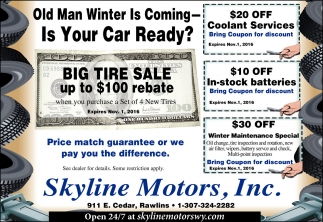 Old man winter is coming... is your car ready?