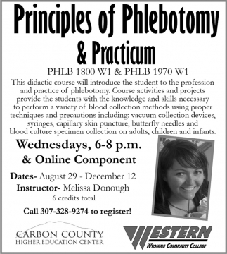 Principles of Phlebotomy & Practicum