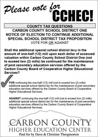 Please vote for CCHEC!
