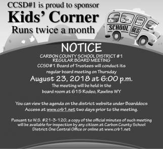 Kid's Corner Runs Twice a Month
