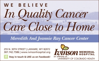We believe in quality cancer care close to home
