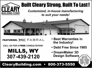 Built Cleary Strong, Built to Last!
