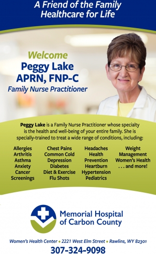 Welcome Peggy Lake APRN, FNP-C