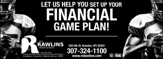 Let Us Help you Set Up your Financial Game Plan!