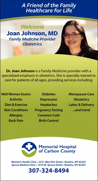 Welcome Joan Johnson, MD