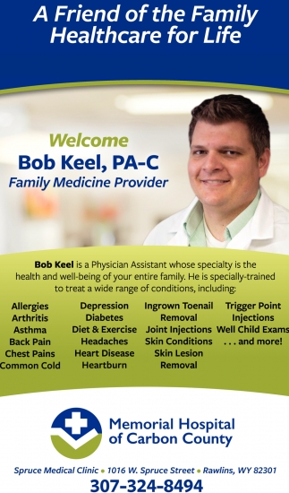 Welcome Bob Keel, PA-C