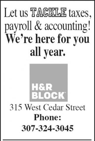 Let us Tackle taxes, payroll & accounting!
