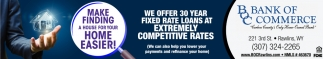 We Offer 30 Year Fixed Rate Loans at Extremely Competitive Rates