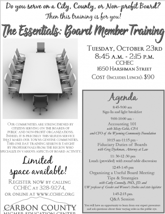 The Essentials: Board Member Training